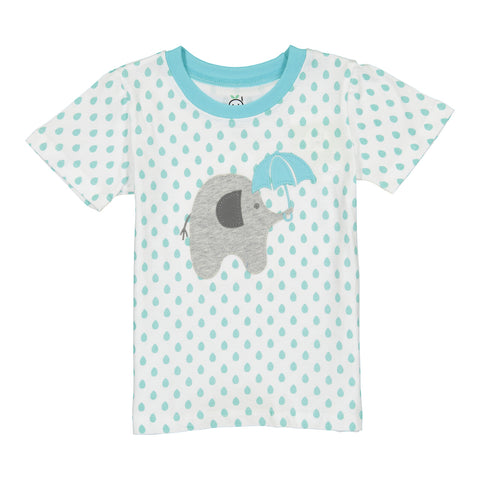Blue Polka Dot Elephant T-Shirt