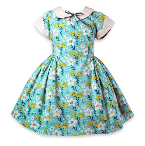 Blue Bird Retro Lolly Dress
