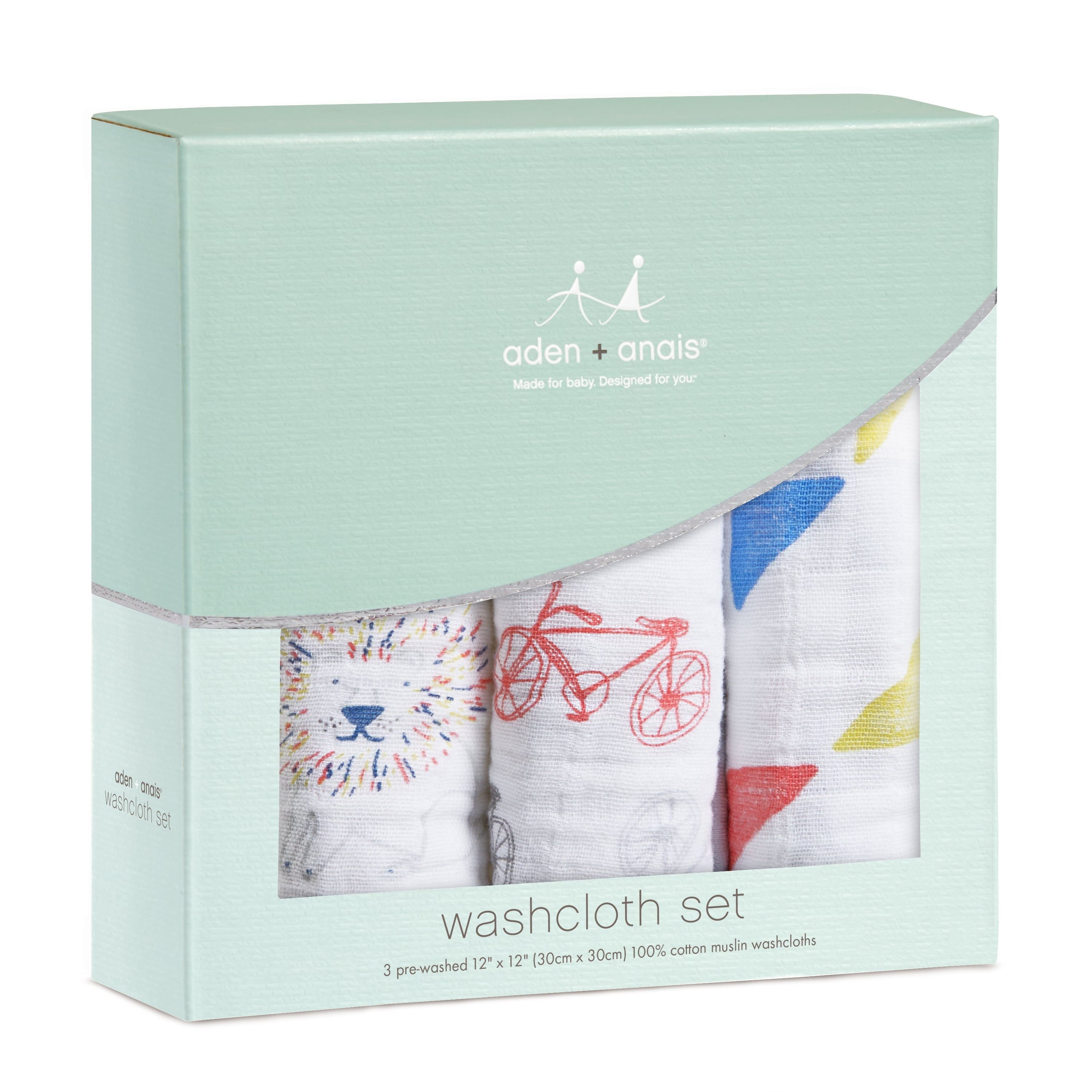 Muslin Washcloth Set 3-Pack - Leader of the Pack
