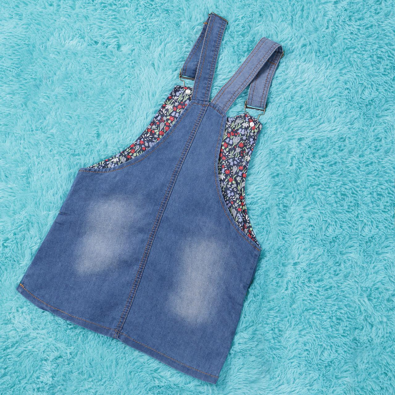 Cute Cat Overalls Jean Dress