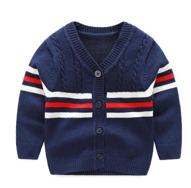 Infant Boys Stripe V-Neck Cardigan Sweater