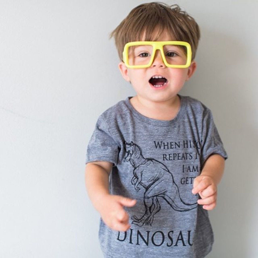 Boys Dinosaur Print T-shirt and Pants Set