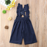 Girls Ruffle Suspenders Overalls