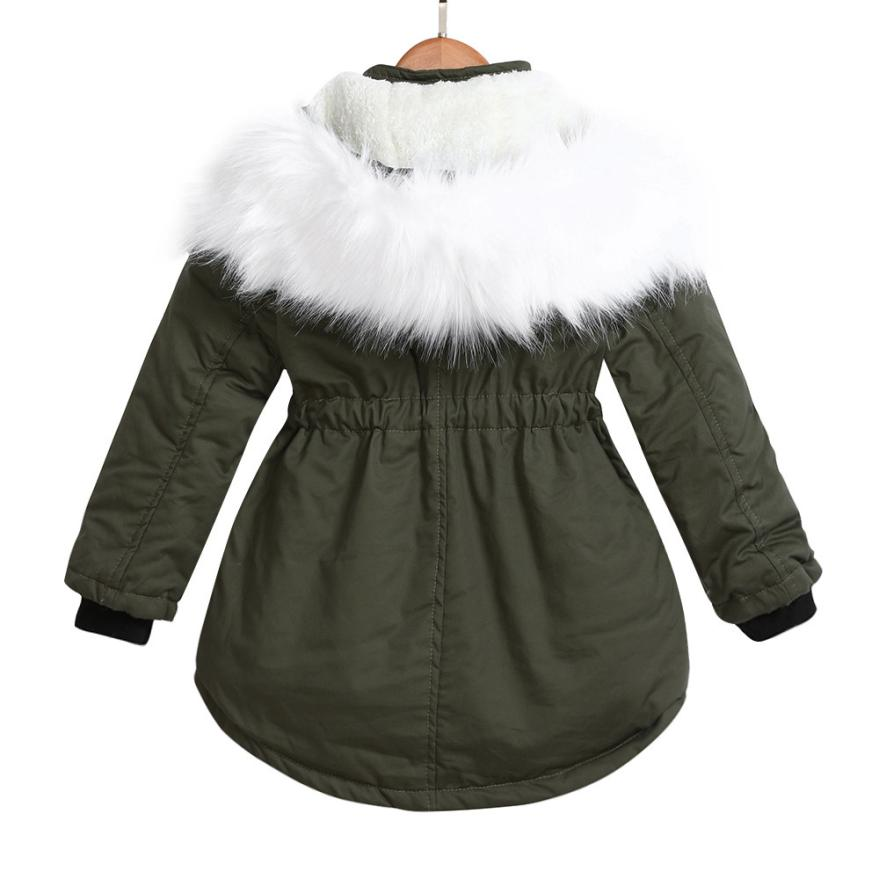 Girls Furry Hooded Parka