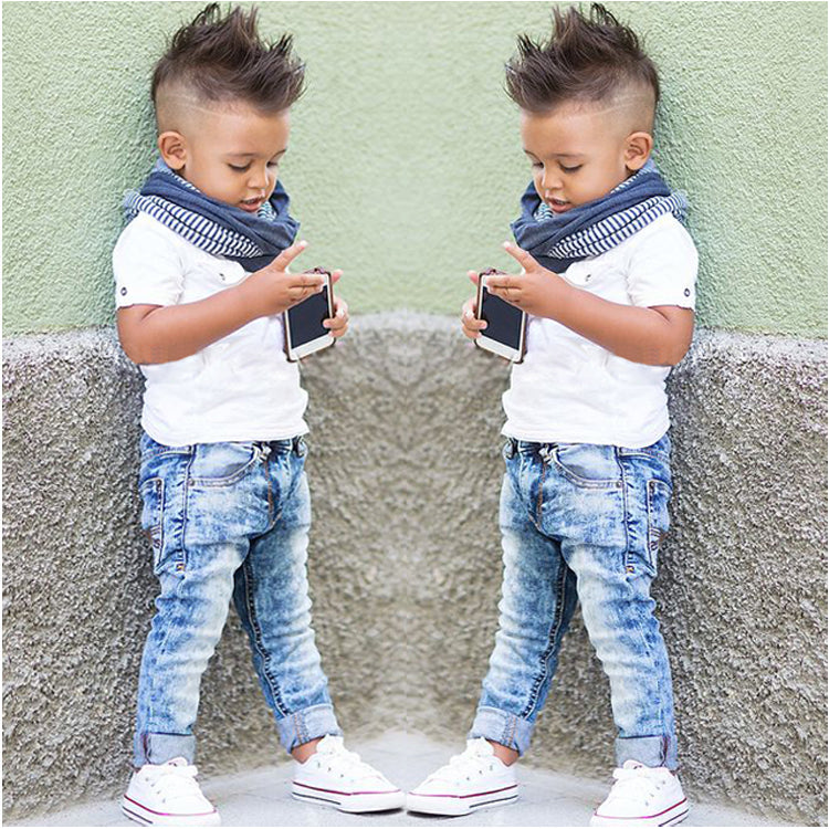2-piece Boys Shirt and Jeans Set