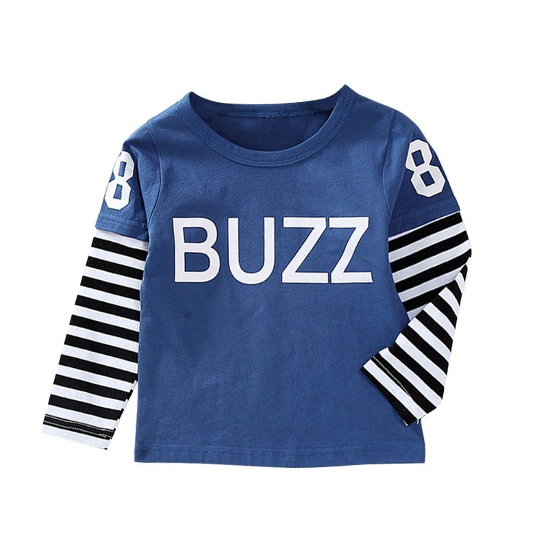 Boys Casual Long Sleeve Letter T-Shirt
