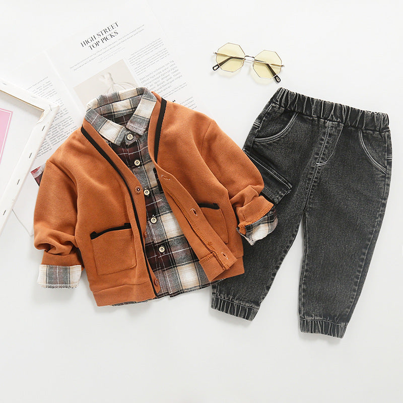 Boys Casual Jacket Pants Set