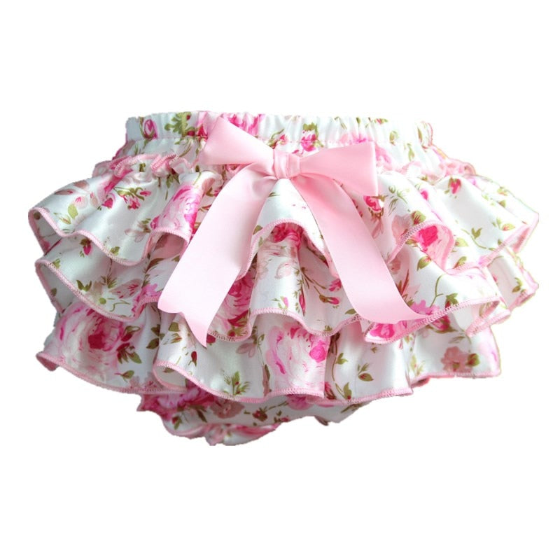 Ruffle Lace Baby Bloomers Diaper Cover