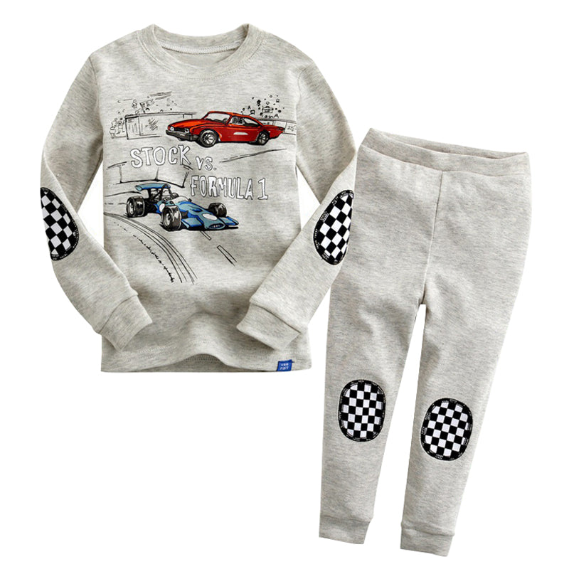 Cool 2-piece Race Cars Pant Set