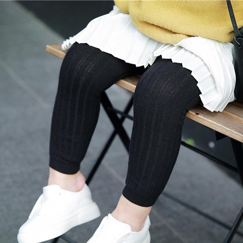 Girls Ribbed Leggings
