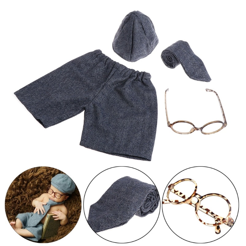 4-Piece Infants Gentleman Photo Props Set