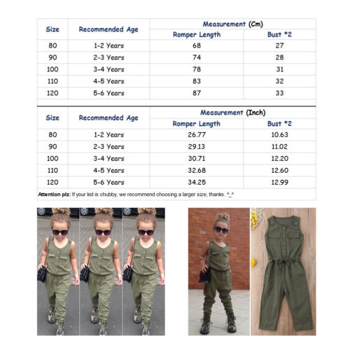Girls Drawstring Jumpsuit