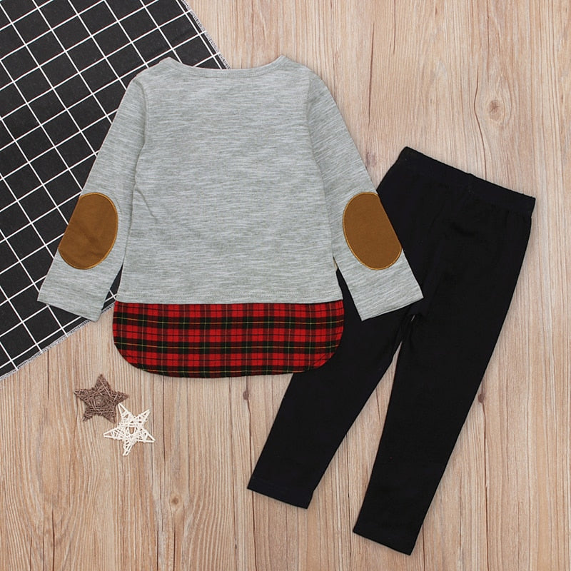 Girls 2-piece Deer Pullover Pants Set