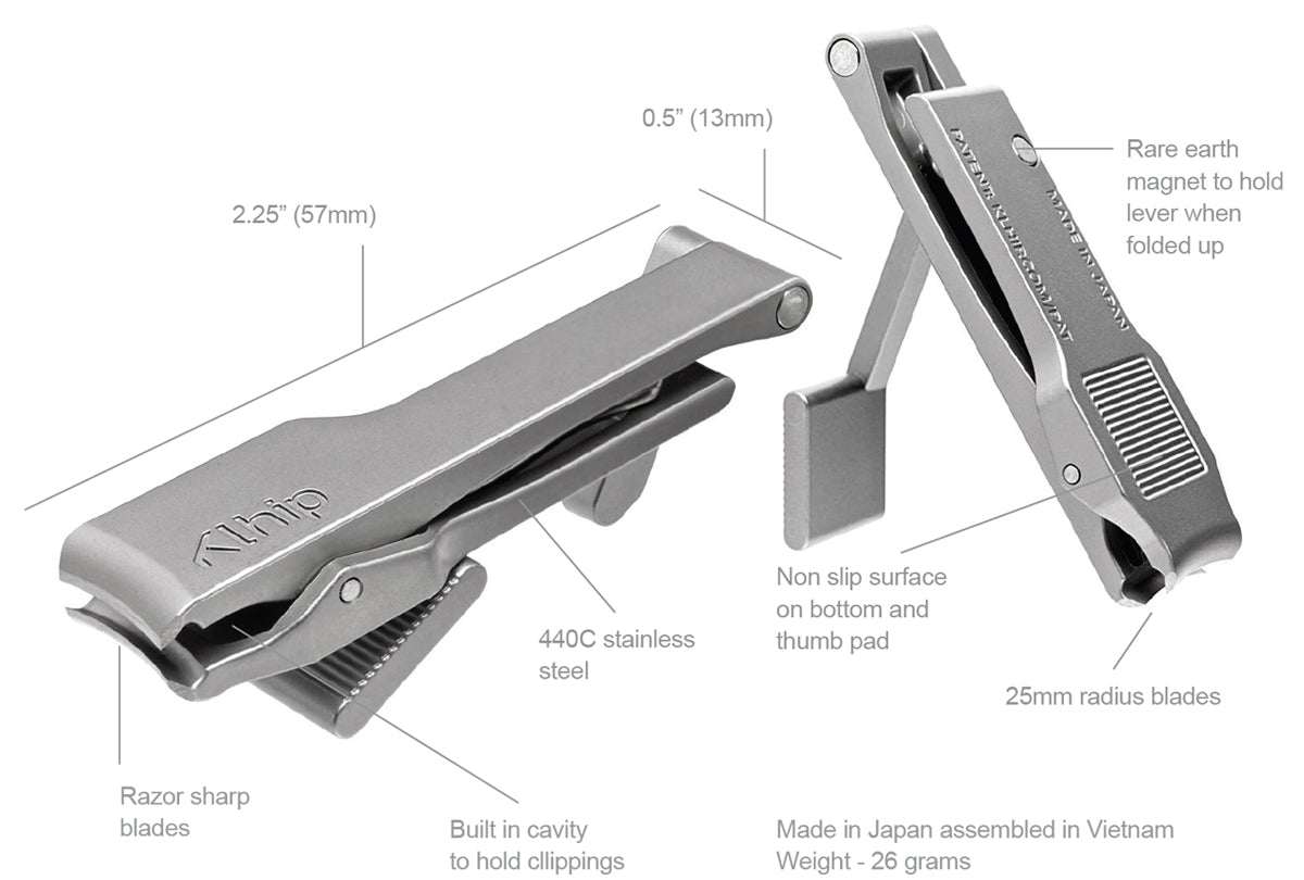 Klhip Ultimate Clipper | The world's first ergonomically correct nail clipper