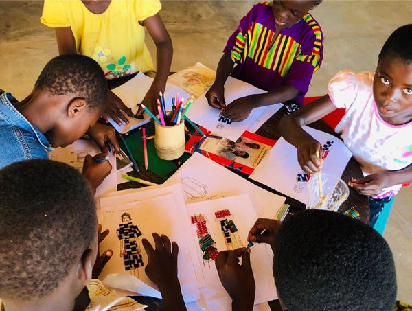 Fashion Illustration Workshop with the children
