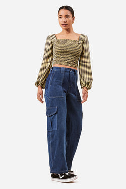 Asime Denim Cargo Trousers