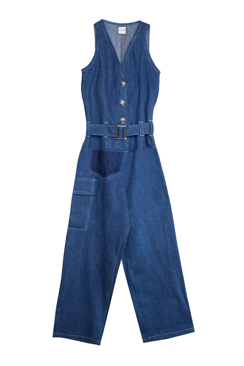 Repurposed Denim Jumpsuit