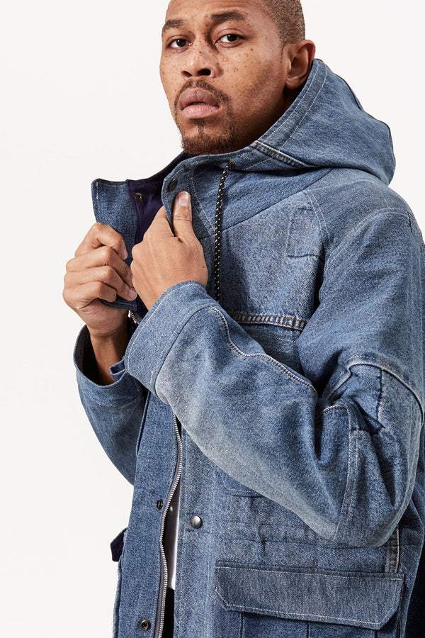 Asime Repurposed Denim Parka