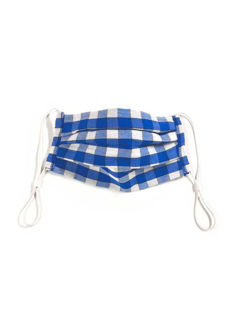 Face Mask in Blue Gingham