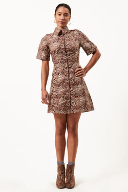 Asime Leopard Shirt Dress