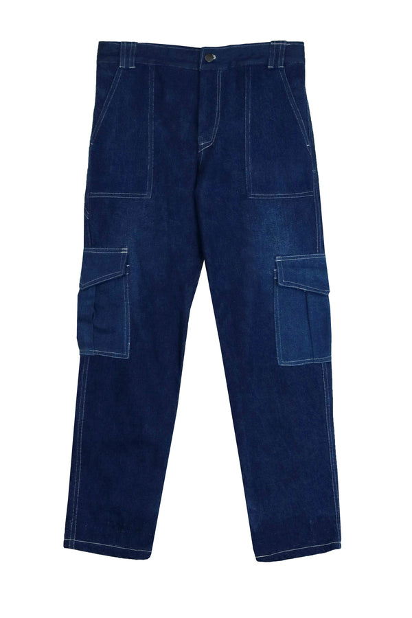 Repurposed Denim Cargo Pant