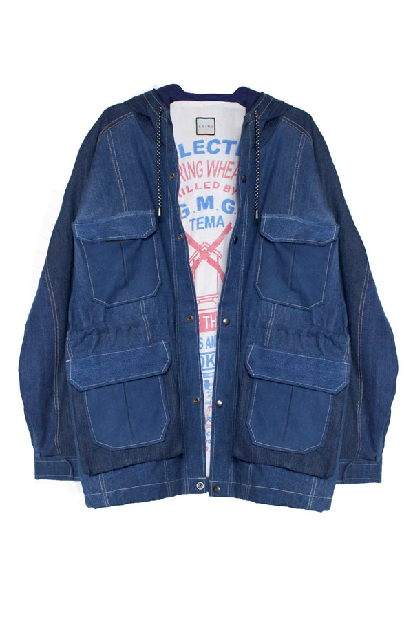 Repurposed Denim Parka