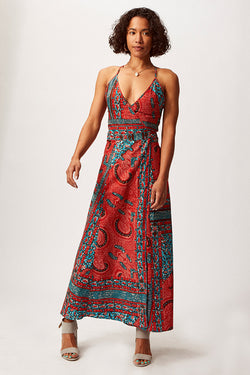 Asime Paisley Wrap Dress