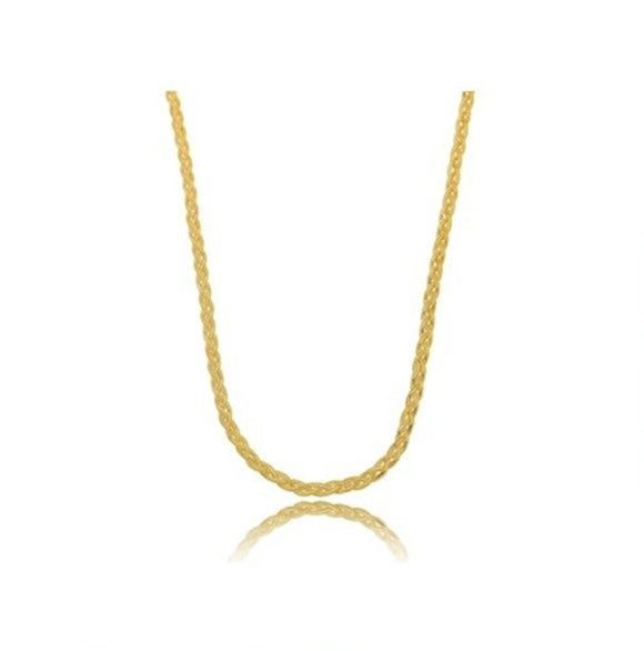 Braided Chain Choker - 18k Gold Plated