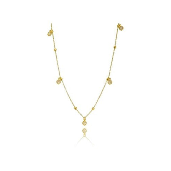 Crystal Marbles Choker - 18k Gold Plated