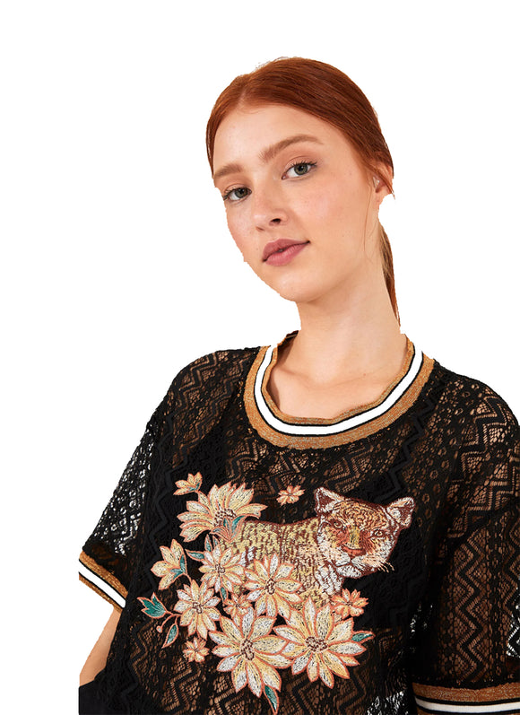 Farm Embroidered Lace Top