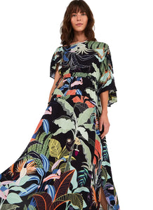 Farm Royal Forest Long Dress