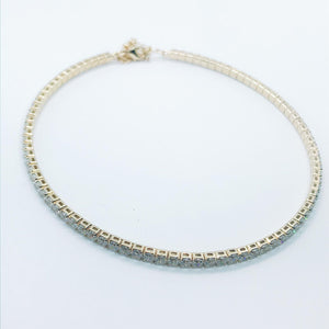 Riviera Choker - Crystal - 18k Gold Plated