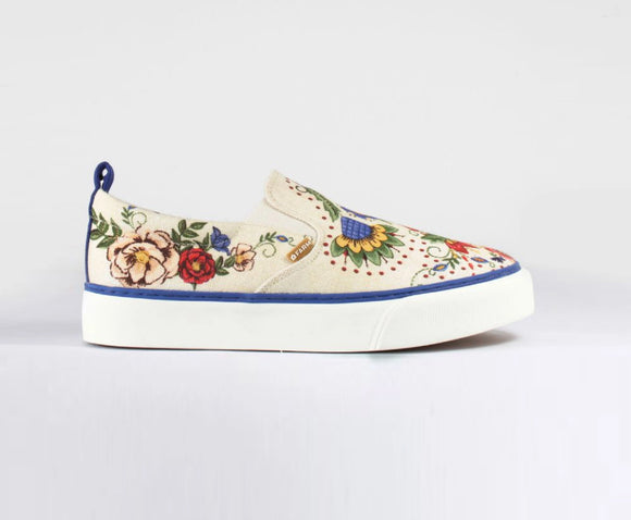 Farm Embroidered Mandala Sneakers