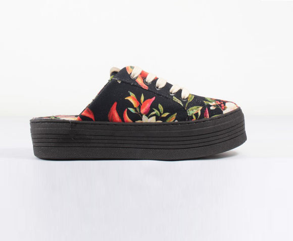 Farm Chilli Black Open Sneakers