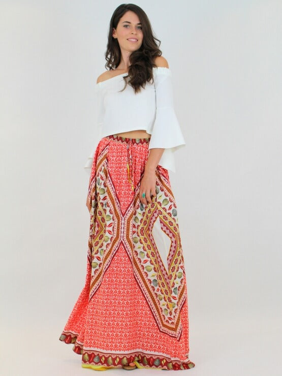 Farm Sea Shells Long Skirt