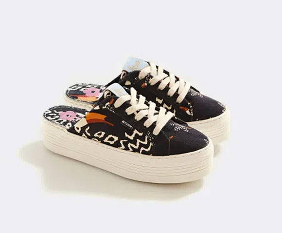 Farm Black Toucan Open Sneakers