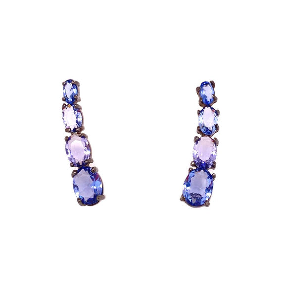 Unique Cuff Earrings Tanzanite