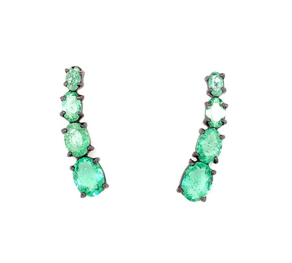 The Unique Cuff Earrings Green Tourmaline