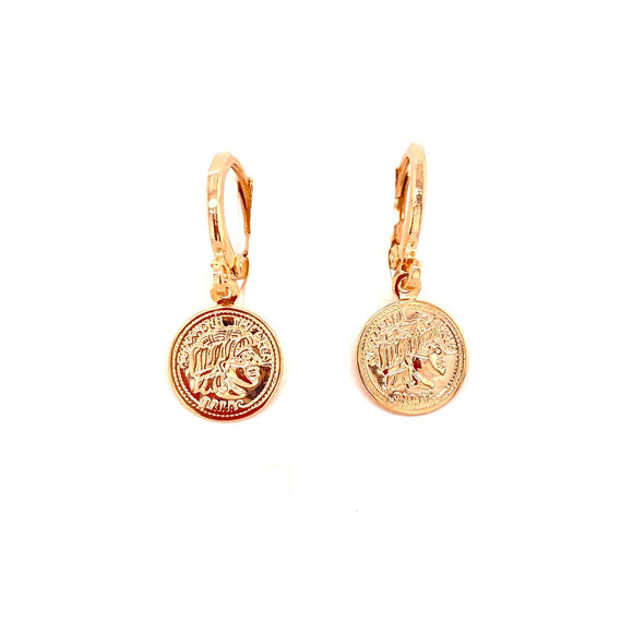 Minimalist Coin Earrings