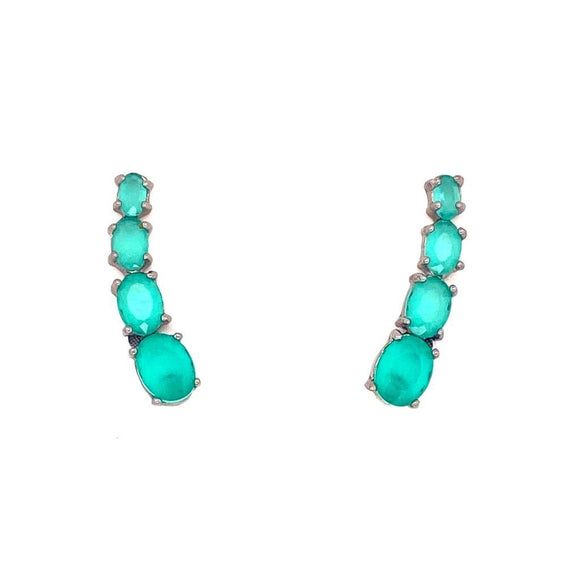 The Unique Cuff Earrings  Milky Paraiba Tourmaline