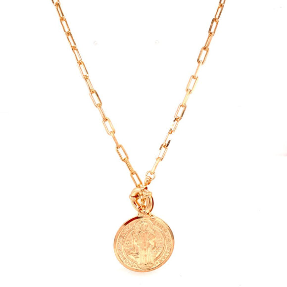 Saint Bento Medallion Necklace