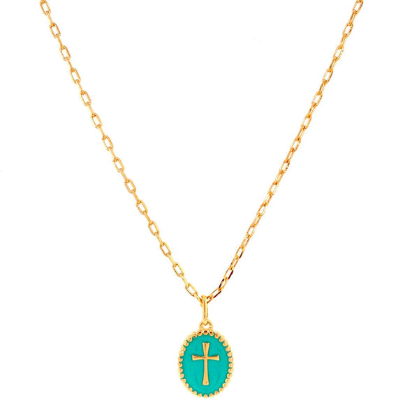 Tiffany Enamelled Cross Necklace