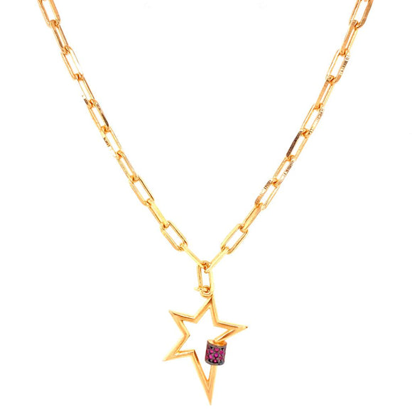 Rainbow Star Outline Necklace