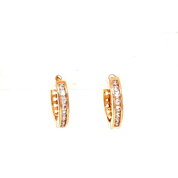 Crystal Mini Hoop Sleepers Earrings