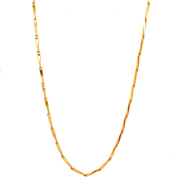 Long Necklace - 18k Gold Plated
