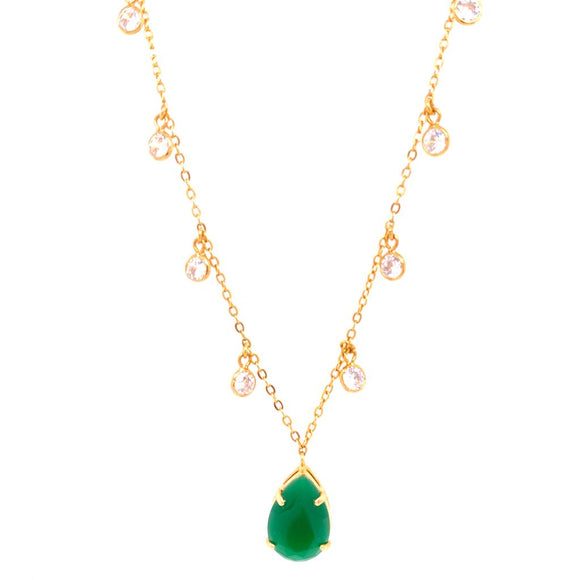 Small Tiffany Drop & Light Points Necklace - 18k Gold Plated
