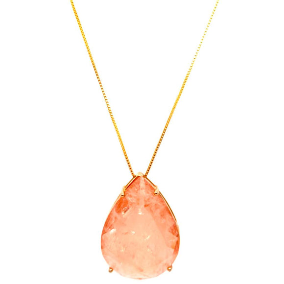 Living Coral Fusion Magnificent Drop Necklace - 18k Gold Plated