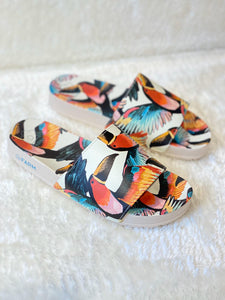 Farm Toucan Party White Slides
