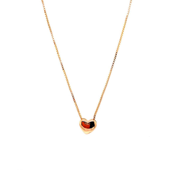 Smooth Baby Heart Necklace - 18k Gold Plated