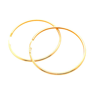 Smooth Medium Hoops - 18k Gold Plated